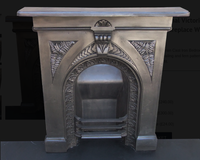 Original Victorian Cast Iron Bedroom Fireplace With Fern Pattern