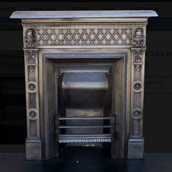 Original Cast Iron Late Victorian Bedroom Fireplace for sale