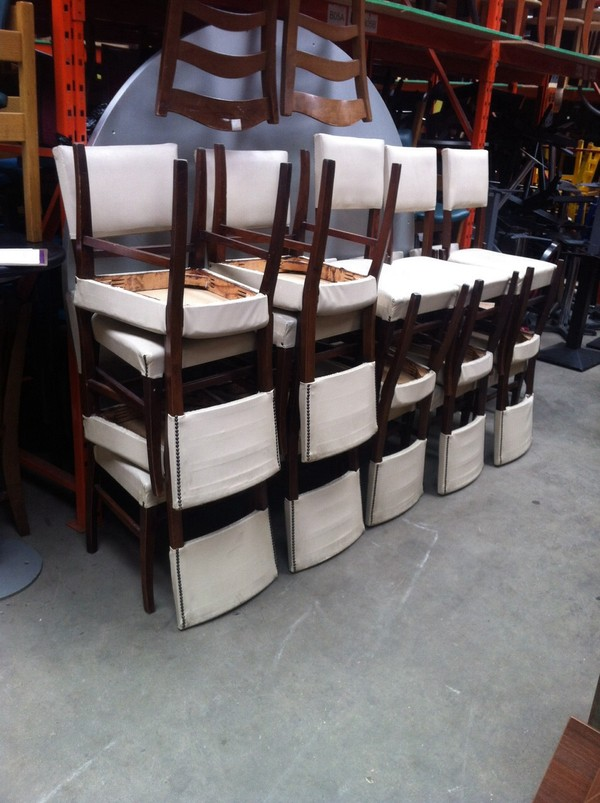 Job Lot of 17 White Chairs for sale