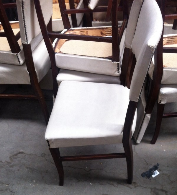 Selling Job Lot of 17 White Chairs