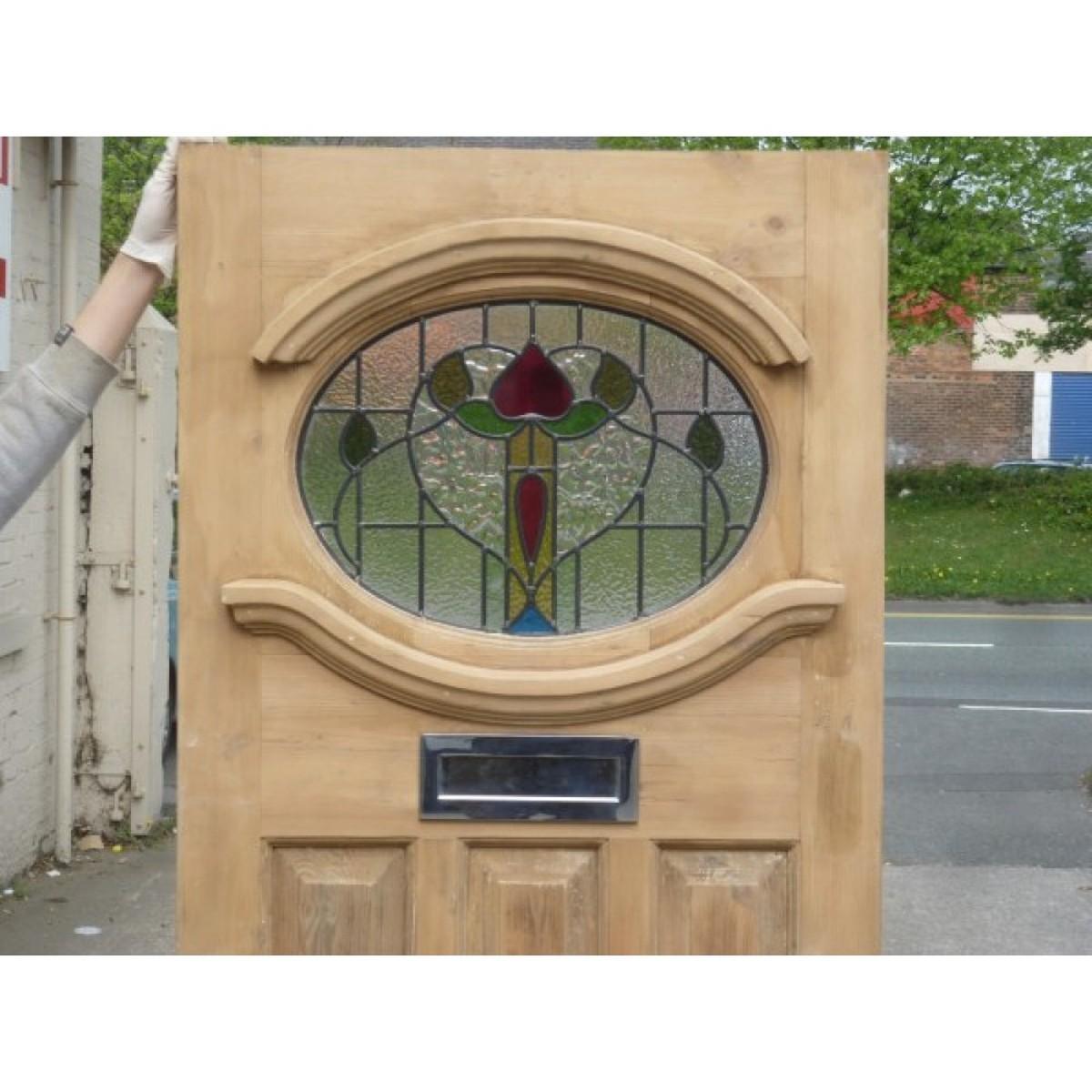 Edwardian Stained Glass Exterior Door 1930u0027s Stained Glass Edwardian stained glass ...  sc 1 st  Secondhand Vintage and Reclaimed & Secondhand Vintage and Reclaimed | Doors and Windows | 1930 ...