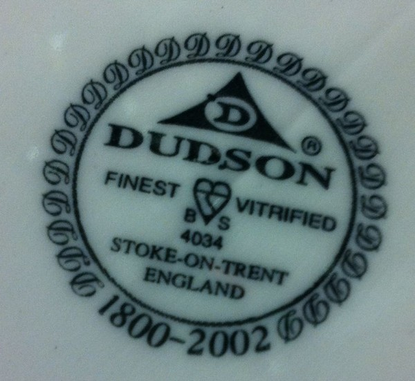Dudson Oval Crockery
