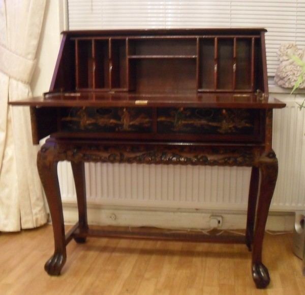 Antique Oriental Desk and Chair