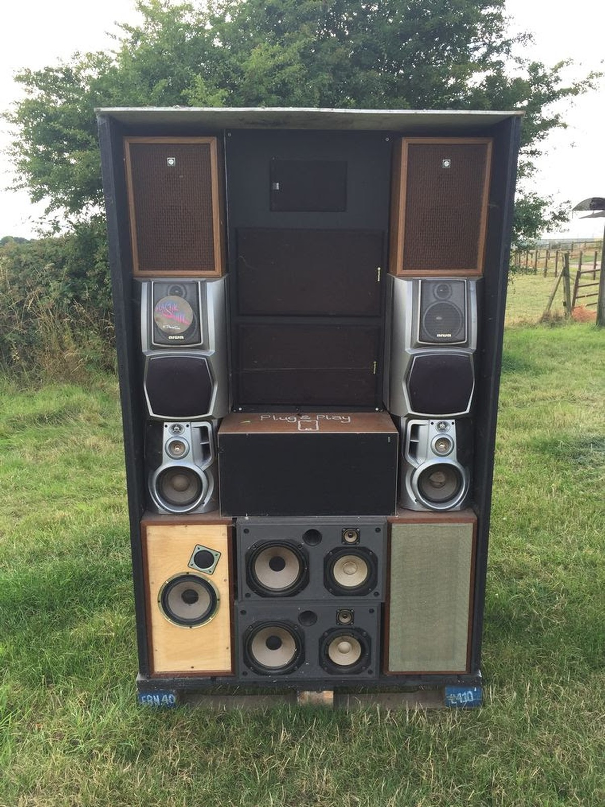 secondhand prop shop disco themed props giant speaker stack boxes leicestershire. Black Bedroom Furniture Sets. Home Design Ideas