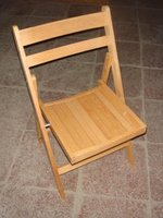 EX Hire Wooden Folding Traditional Beechwood Fold Flat Chair