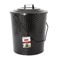 Basket Weave Metal Coal Tub