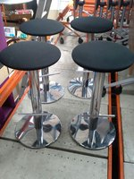 8 Allemuir chrome stools