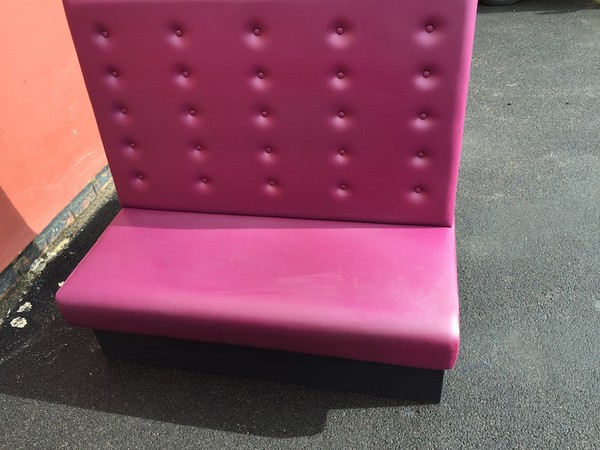 Pink Booth Seating