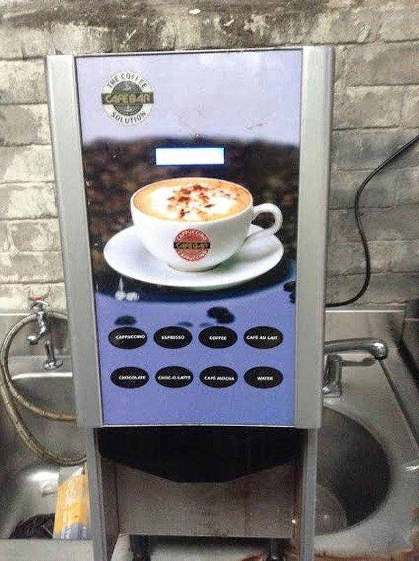 Push button coffee machine