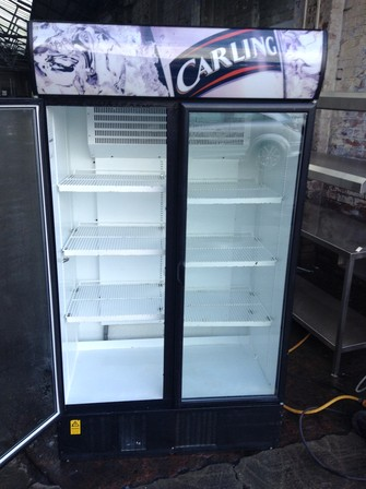 Double door display drinks fridge