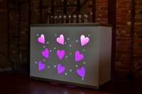 5ft Mobile Heart Bar  for sale