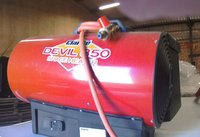 Direct marquee heater