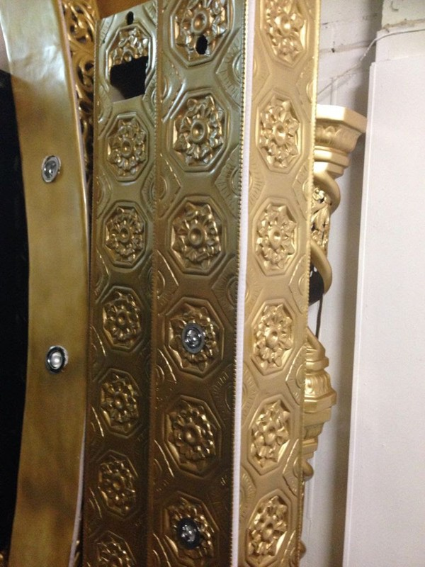 Asian wedding stage pillars