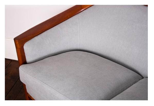 Grey Upholstered Sofa