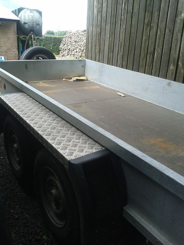 Used mower trailer with ramp