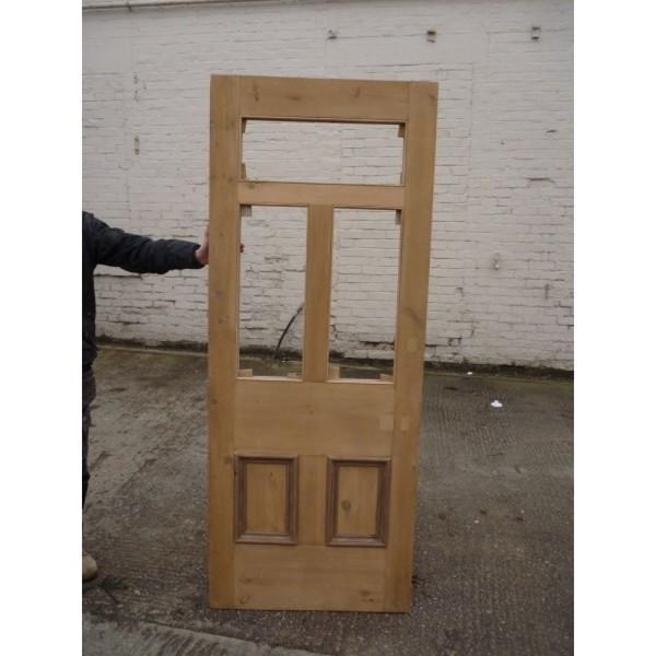Original Victorian Edwardian 5 Panel Unglazed Door