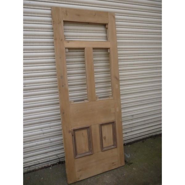 Renovated Victorian Edwardian 5 Panel Unglazed Door