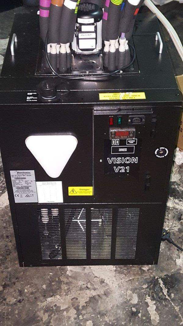 Vision v21 Beer Cooler complete with MF remote heat dump fan.