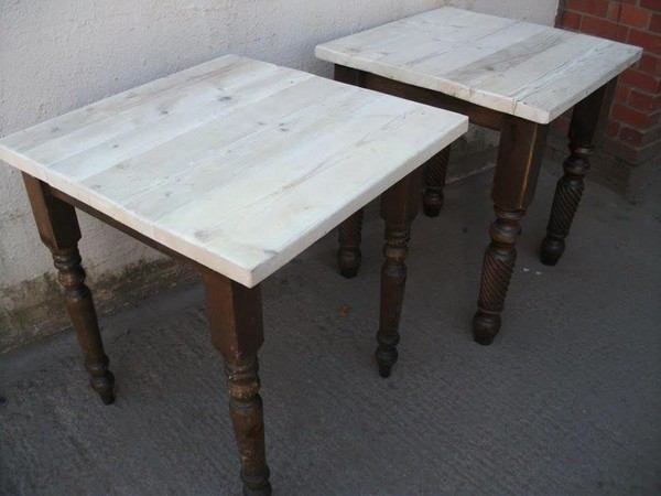 Reclaimed cafe tables