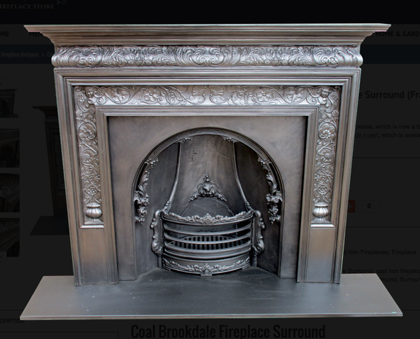 Coal Brookdale Fireplace Surround