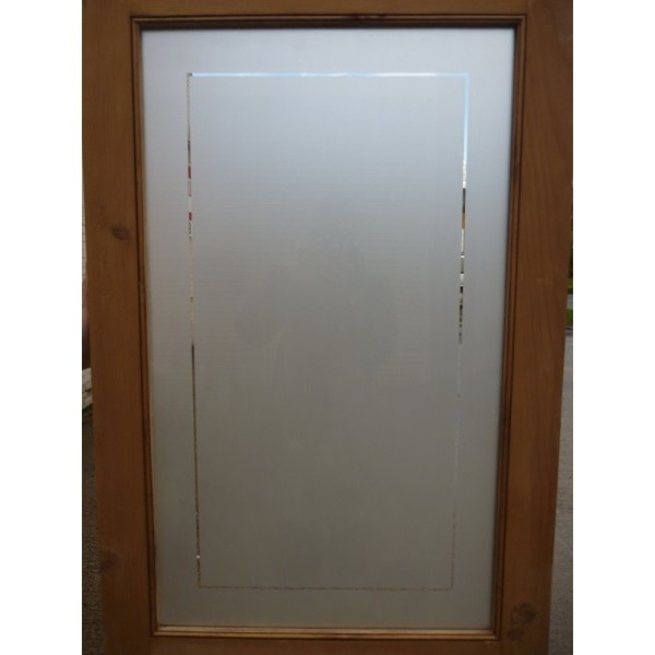 double set of antique pine doors