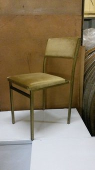 150 Used Gold Steel Framed Upholstered Chairs
