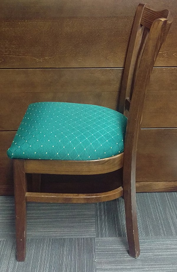 32 Solid Wood Green Upholstered Dining Chairs