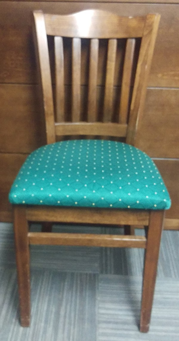 Solid Wood Green Upholstered Dining Chairs