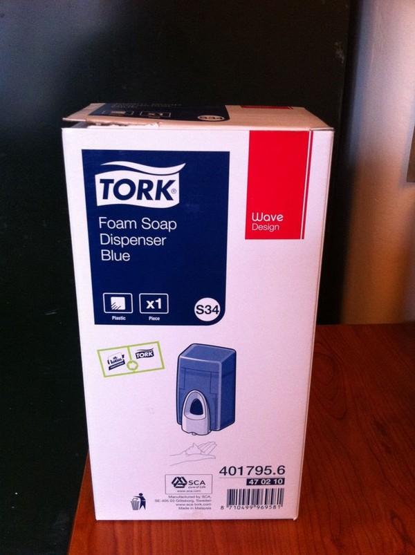 Blue Tork Foam Soap Dispensers