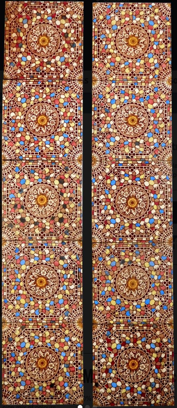Symmetrical Mosaic Fireplace Tiles