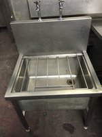 Stainless Steel Janitors Sink with taps