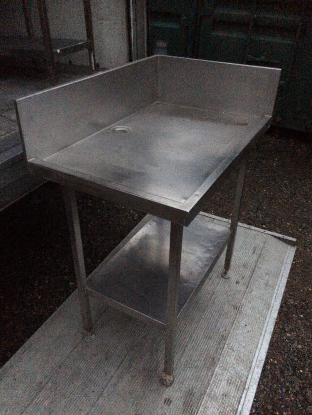 Secondhand Catering Equipment Stainless Steel Tables M - Tall stainless steel table