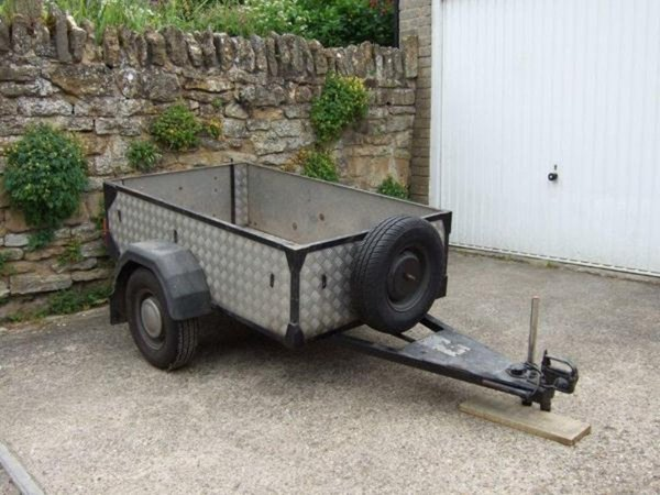 Aluminium chequer plate trailer 5ft x 3ft