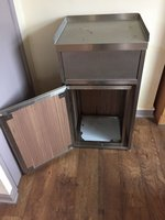 Stainless Steel Waste Bin with Wooden Finish