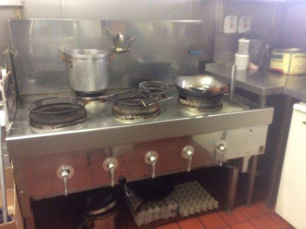 5 burner wok cooker