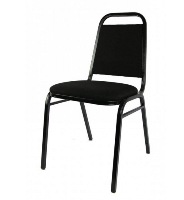 Black metal framed banqueting chairs