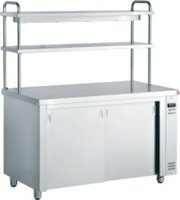 Inomak Hot Cupboard With Double Gantry & both heated shelves