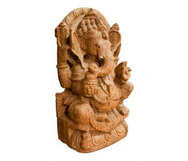 Hand Carved Stone Ganesh