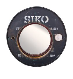 Mirror made from Old Oil Drum