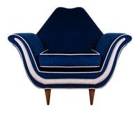 Italian 1950's Reupholstered Armchair