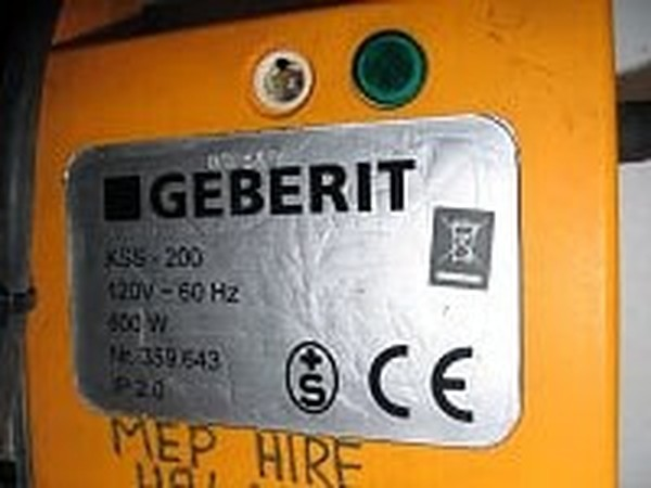 Geberit KSS-200 Sleeve Welding Unit, specification