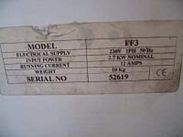 Broughton FF3 Industrial Fan heater specification