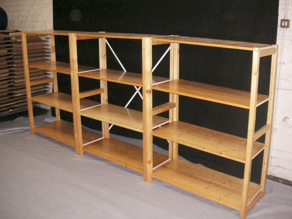 Wooden Shelving  Bays
