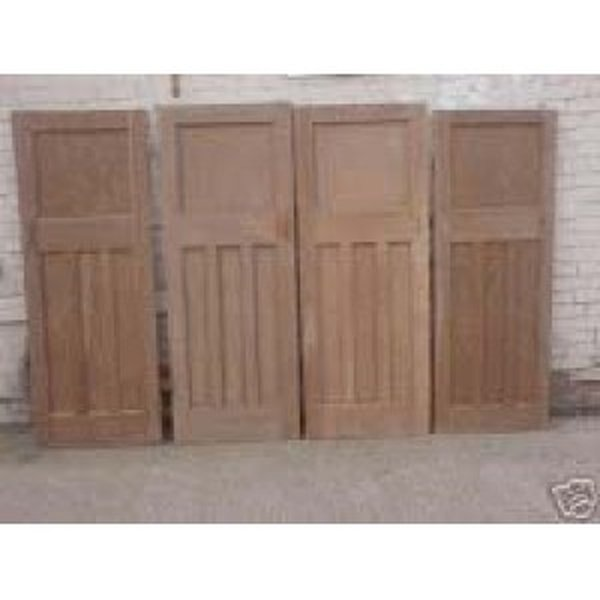 Original 1930's Stripped Pine Doors