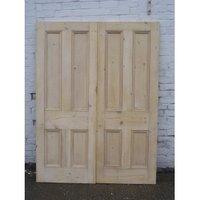 Pair of Original Antique Solid Pine Double Doors