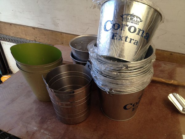 Used Wine and Champ Buckets