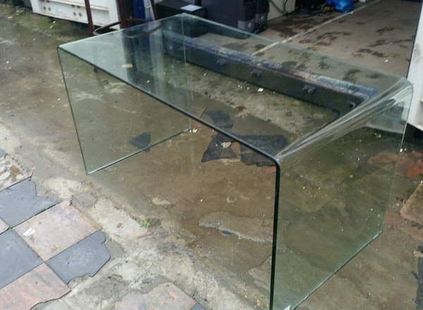 Bent Glass Commercial Table / Reception Desk