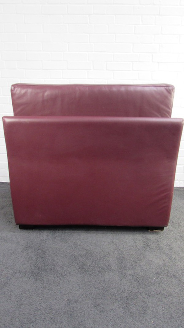 Commercial Burgundy Leather Easy Chairs