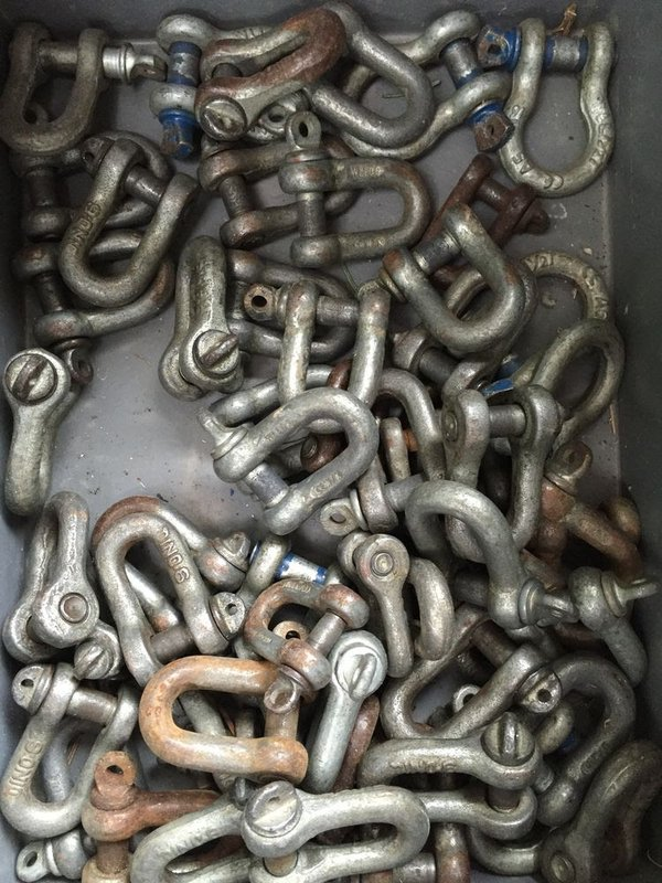 Load rated D shackles for sale