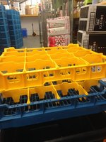 Fries System Glass Washer Rack 16 Glasses - 500 x 500mm